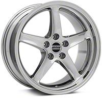 Chrome Deep Dish 1995 Style Cobra R - 18x9 (94-04 All) - AmericanMuscle Wheels 10097