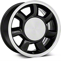 93 Cobra Style Black Wheel LH - 17x8.5 (87-93; Excludes 93 Cobra) - American Muscle Wheels 11878452L