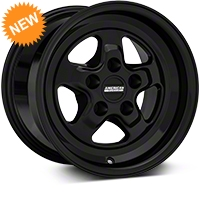 Drag Black Wheel - 15x10 (94-04 GT, V6) - American Muscle Wheels 101042G94