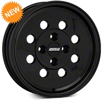 Classic Drag Black Wheel - 15x4 (79-93 Excludes; 93 Cobra) - American Muscle Wheels 101049