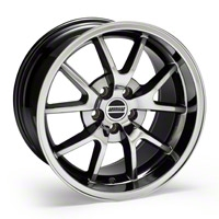 Black-Chrome Deep Dish FR500 Wheel - 18x10 (94-04 All) - AmericanMuscle Wheels 10104
