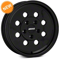 Classic Drag Black Wheel - 15x4 (94-04 GT, V6) - American Muscle Wheels 101050G94