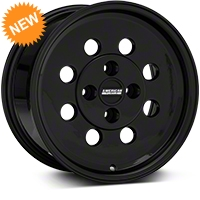 Classic Drag Black Wheel - 15x8 (79-93 Excludes; 93 Cobra) - American Muscle Wheels 101053