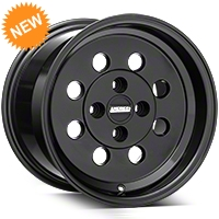 Classic Drag Black Wheel - 15x10 (79-93 Excludes; 93 Cobra) - American Muscle Wheels 101059