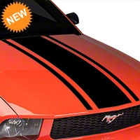 American Muscle Graphics Boss Style Hood Stripe - Black (05-09 All) - American Muscle Graphics 101084