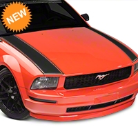 American Muscle Graphics Outer Hood Stripe - Matte Black (05-09 All) - American Muscle Graphics 101087