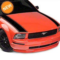 American Muscle Graphics Outer Hood Stripe - Black (05-09 All) - American Muscle Graphics 101088