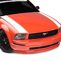 American Muscle Graphics Outer Hood Stripe - White (05-09 All) - American Muscle Graphics 101089