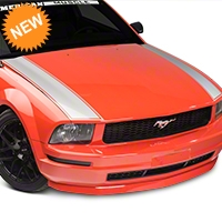 American Muscle Graphics Outer Hood Stripe - Silver (05-09 All) - American Muscle Graphics 101090