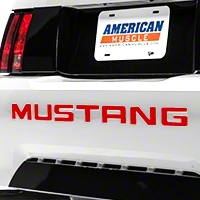 Red Vinyl Bumper Insert Letters (99-04 GT, V6, Mach 1; 99 Cobra) - American Muscle Graphics 101091