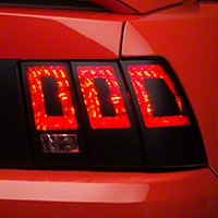 Tail Light Conversion Decal - Matte Black (99-04 All) - American Muscle Graphics 101093