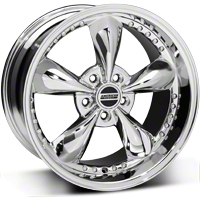 Bullitt Motorsport Chrome Wheel - 18x10 (05-14 GT, V6) - American Muscle Wheels 10116