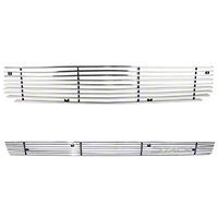 Modern Billet Polished Retro Replacement Grille - Combo (05-09 V6) - Modern Billet 101176