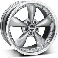 Bullitt Motorsport Anthracite Wheel - 18x9 (87-93 5 Lug Conversion) - American Muscle Wheels 10117