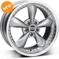 Anthracite Bullitt Motorsport Wheel - 18x9 (87-93 5 Lug Conversion) - AmericanMuscle Wheels 10117