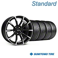 11/12 GT/CS Style Black Machined Wheel & Sumitomo Tire Kit - 19x8.5 (05-14 All) - American Muscle Wheels KIT||101064||63036
