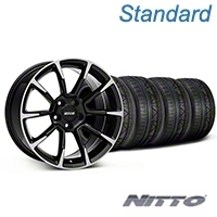 11/12 GT/CS Style Black Machined Wheel & NITTO INVO Tire Kit - 19x8.5 (05-14 All) - American Muscle Wheels KIT||101064||79521