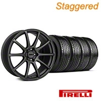 MMD Staggered Axim Charcoal Wheel & Pirelli Tire Kit - 19x8.5/10 (05-14 All) - MMD KIT||101027||101028||63101||63102