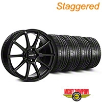 MMD Staggered Axim Gloss Black Wheel & Mickey Thompson Tire Kit - 19x8.5/10 (05-14 All) - MMD KIT||101023||101024||79539||79540
