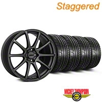 MMD Staggered Axim Charcoal Wheel & Mickey Thompson Tire Kit - 19x8.5/10 (05-14 All) - MMD KIT||101027||101028||79539||79540