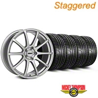 MMD Staggered Axim Silver Wheel & Mickey Thompson Tire Kit - 19x8.5/10 (05-14 All) - MMD KIT||101031||101032||79539||79540