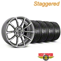 Staggered 11/12 GT/CS Style Anthracite Wheel & Mickey Thompson Tire Kit - 19x8.5/10 (05-14 All) - American Muscle Wheels KIT||101069||101070||79539||79540