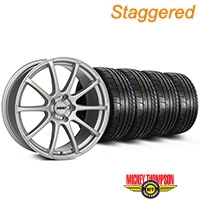 MMD Staggered Axim Silver Wheel & Mickey Thompson Tire Kit - 20x8.5/10 (05-14 All) - MMD KIT||101033||101034||79541||79542