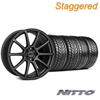 MMD Staggered Axim Charcoal Wheel & NITTO Tire Kit - 20x8.5/10 (05-14 All) - MMD KIT||101029||101030||76005||76006