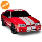 Matte White GT500 Style Stripes - 10 in. (79-93 All) - American Muscle Graphics 101444G79