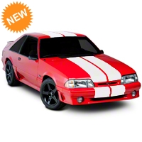 Matte White Lemans Stripes - 12in (79-93 All) - American Muscle Graphics 101445G79