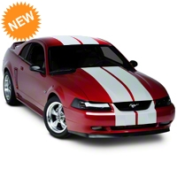 Matte White Lemans Stripes - 12 in. (94-04 All) - American Muscle Graphics 101445G94