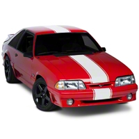 Matte White Super Snake Style Stripe Kit (79-93 All) - American Muscle Graphics 101446G79