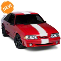 Matte White�Super�Snake�Style Stripe Kit (79-93 All) - American Muscle Graphics 101446G79