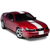 Matte White Super Snake Style Stripe Kit (94-04 All) - American Muscle Graphics 101446G94