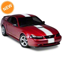 Matte White�Super�Snake�Style Stripe Kit (94-04 All) - American Muscle Graphics 101446G94