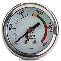 Nitrous Outlet Bottle Pressure Gauge - 4AN (79-14 All) - Nitrous Outlet 00-63001-4