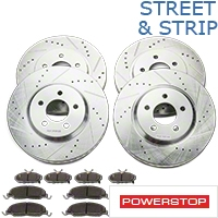 Power Stop Street Warrior Brake Rotor & Ceramic Pad Kit - Front & Rear (11-14 V6) - Power Stop K5450-26