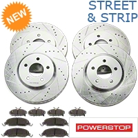 Power Stop Street Warrior Ceramic Brake Rotor & Pad Kit - Front & Rear (11-14 V6) - Power Stop K5450-26