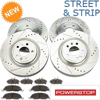 Power Stop Street Warrior Ceramic Brake Rotor & Pad Kit - Front & Rear (11-14 GT) - Power Stop K5943-26