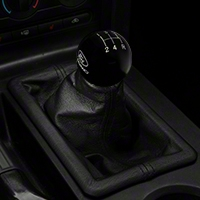 Ford Racing Short Throw 5 Speed Shift Knob - Black (05-10 GT, V6) - Ford Racing M-7213-P