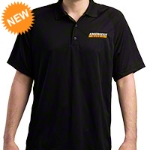 AmericanMuscle Performance Polo Shirt - Black - AM Accessories PARENT