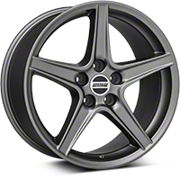 Saleen Style Charcoal Wheel - 18x9 (05-14 GT, V6) - American Muscle Wheels 101624G05