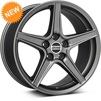 Saleen Style Charcoal Wheel - 18x9 (94-04 All) - American Muscle Wheels 101624G94