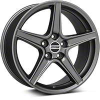 Saleen Style Charcoal Wheel - 18x10 (05-14 GT, V6) - American Muscle Wheels 101625
