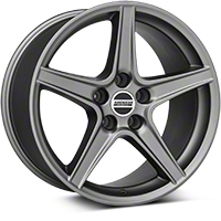 Saleen Style Charcoal Wheel - 18x10 (94-04 All) - American Muscle Wheels 101626