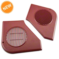 Door Speaker Grille Kit - Scarlet Red (87-93 All) - AM Restoration e7zz-18978-r