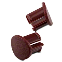 Red Door Armrest Plugs - LH (87-93 All) - AM Restoration e7zz-6124057-r