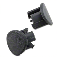 Gray Door Armrest Plugs - RH (87-93 All) - AM Restoration e7zz-6124056-g