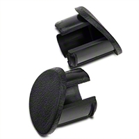 Black Door Armrest Plugs - RH (87-93 All) - AM Restoration e7zz-6124056-b