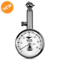 Tire Pressure Gauge - Mustang 50th Anniversary Logo - AM Accessories TG-50